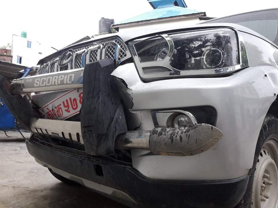 साइकल अध्यक्षकाे गाडी दुर्घटना