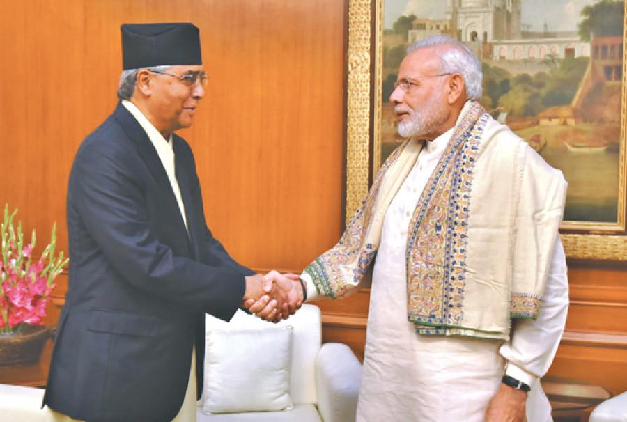 नेपालका प्रधानमन्त्री देउवाद्वारा भारतका प्रधानमन्त्री माेदीलाई शुभकामना